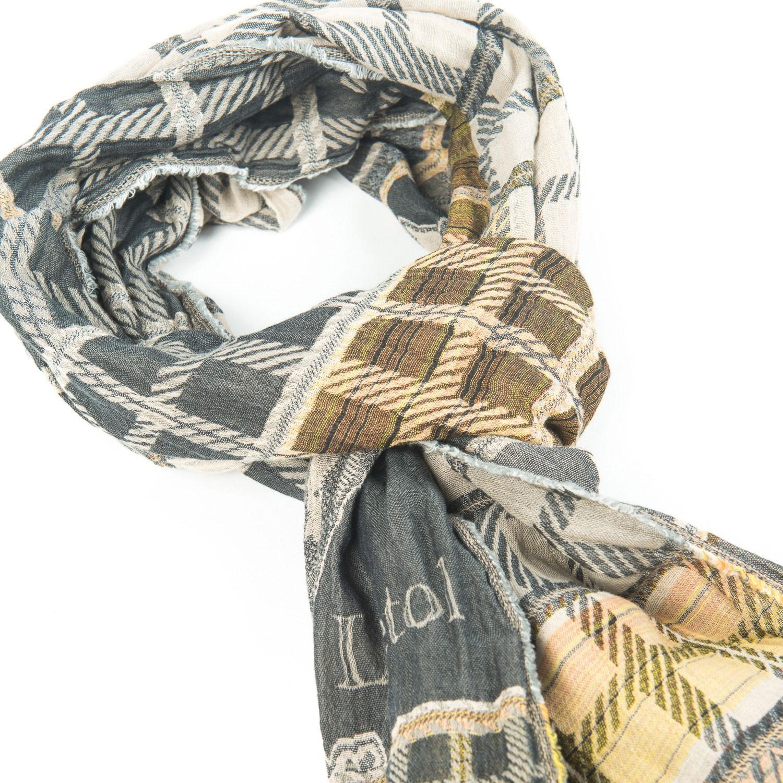 Echarpe tweed gris