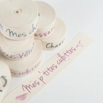 """etiquette """"mes p'tites culottes"""" rose"""