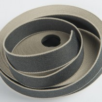 sangle bicolore 4cm anthracite