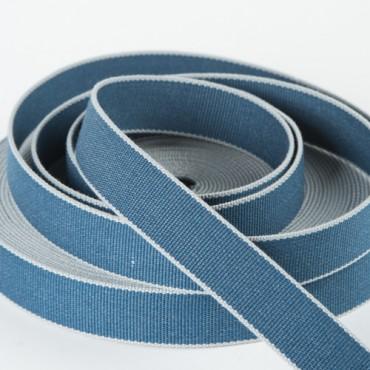 sangle bicolore 4cm bleu