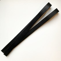 anses en cuir noir 55cm