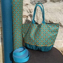 kit sac emma - hélices turquoise