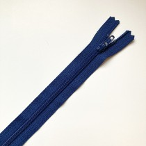 fermeture zippée bleu dur 35cm