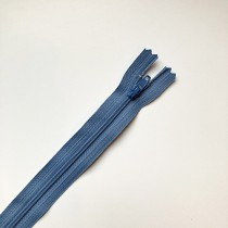 fermeture zippée bleu jeans 35cm