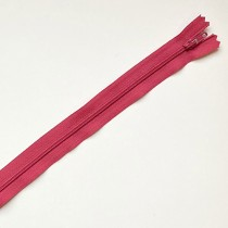 fermeture zippée framboise 35cm