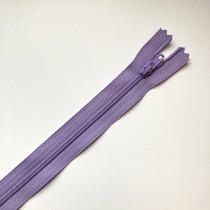 fermeture zippée mauve 30cm