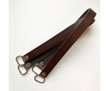 anses en cuir marron 55cm avec boucles