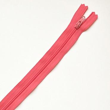 fermeture zippée rose vif 35cm