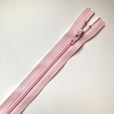 fermeture zippée rose pale 35cm