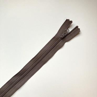 fermeture zippée taupe 40cm
